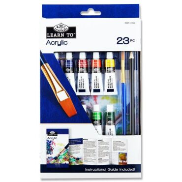 Essentials Learn To Acrylic Paint Set 23 Pce