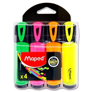 Maped Fluo'peps Pkt.4 Highlighters