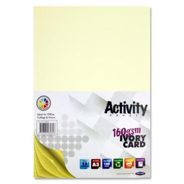 Premier Activity A3 160gsm Card 25 Sheets - Ivory